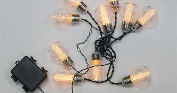 Battery Operated Vintage Edison String Lights *Lighting > Light Ropes & Strings* Pinterest ...