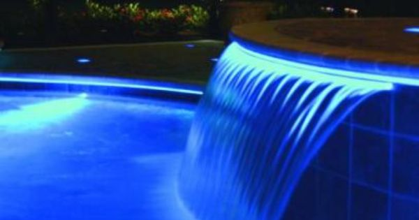 Fibre Optic Illuminated Pool Waterfall Led Lights Waterfeature Waterfall Water Feature Lighting Water Features Pool Fountain