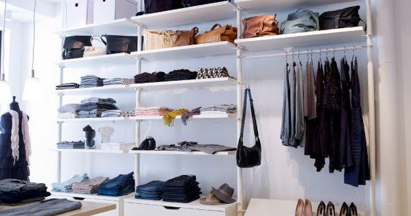montants tablettes commodes tag res chaussures et tringles habits stolmen blancs. Black Bedroom Furniture Sets. Home Design Ideas