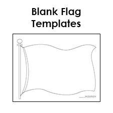 Blank Flag Template Printable Flag Template Make Your Own Flag