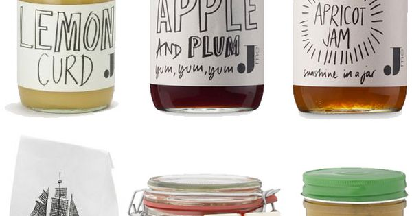 nice hand drawn labels. jamie oliver food packaging