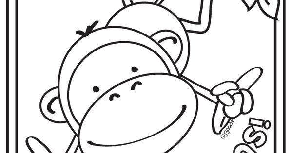 Monkey Gone Bananas Coloring Page