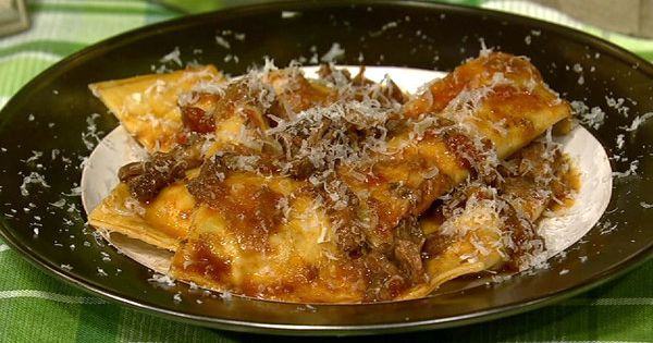 Mario Batali's Grandma's Ravioli (you could sub short ribs ...