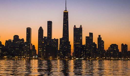 Chicago, Illinois sunset skylines scenic photography