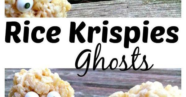 halloween ghost rice krispie treats