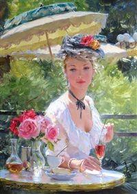 Elegante Au Jardin De Bagatelle By Konstantin Razumov Art