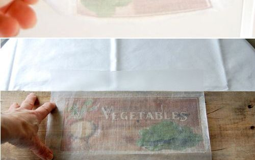 How to print pictures on wood wax paper transfer craft for Printer transfer paper for wood