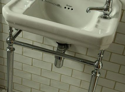 Burlington Corner Sink : Burlington Edwardian Cloakroom Basin with washstand... from Modern ...