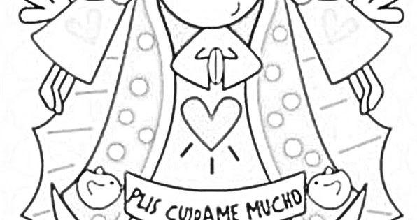 Dibujos De Comunion Para Imprimir Y Colorear: Dibujos Católicos : Virgencita Plis Distroller Para