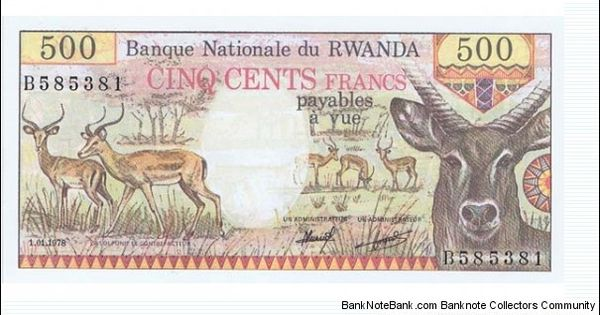 Rwanda - 500 Banknotes - Animals Pinterest Banknote - note payables