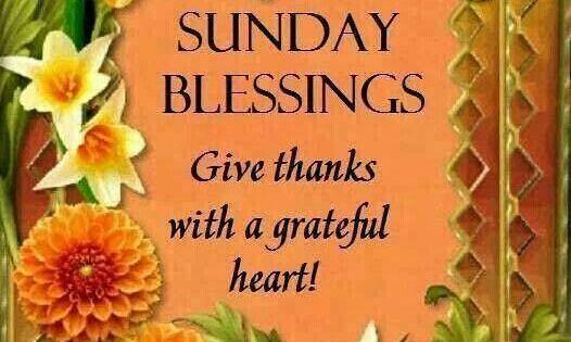 Good Morning Sunday Blessings Give Thanks Good Morning