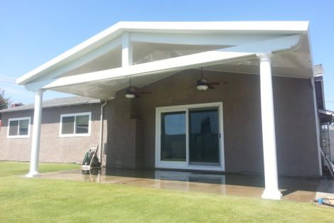 Gable Patio Cover Features By Patio Crew Installer Of Weatherwood Alumawood And Elitewood Patio Co Backyard Remodel Covered Patio Design Aluminum Patio Covers