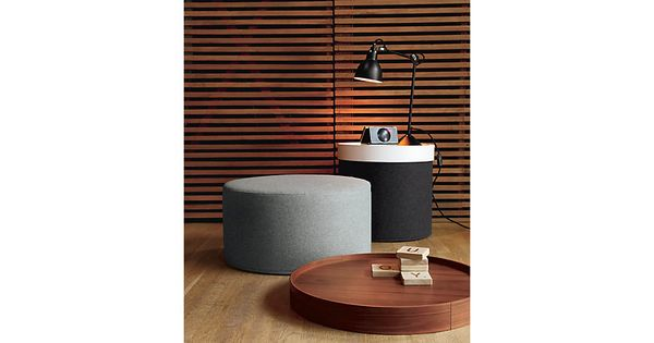 Perfect Multi Functional Pieces Softline Drum Pouf Dwr