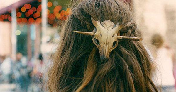 Fawn Skull Leather Hair Barrette Original Handmade Leather Etsy Hair Barrettes Hair Accessories Hair Pins