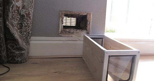 How To Make A Cat Flap In A Wall Cat Door Pinterest