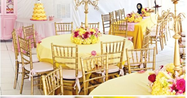 Beauty and the beast party knick knacks and party ideas for Beauty and the beast table and chairs