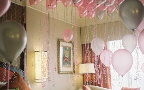 Fill your child's room with balloons while they're sleeping, so they wake up on their birthday with a room full of them :) I'm so doing this for my kids birthdays :)