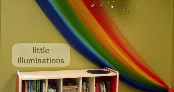 Classroom Wall Decoration Images ~ Cloud and rainbow reading corner how inviting