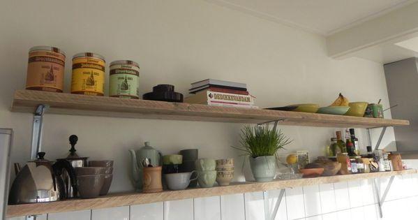 Steigerhouten wandplank : wandplank van steigerhout : op maat gemaakt ...