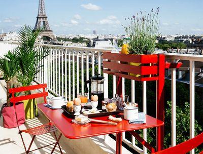 Table pliante balcon bistro rabattable 77 x 64 cm bistrots tables et pots Table balcon pliante rabattable