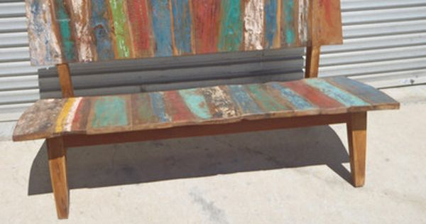 Bench Seat Recycled Timber Furniture Balinese Boat Timber