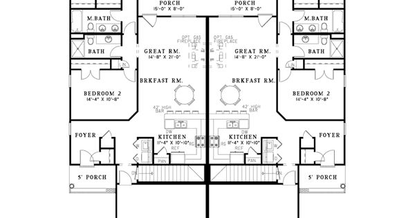 Delonta Ranch Style Duplex Duplex Plans Ranch Style And