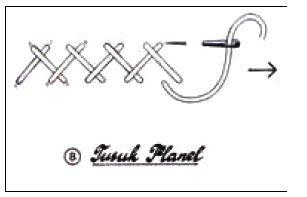 Tusuk Balik X2f Tusuk Tikam Jejak Tusuk Balik X2f Tusuk Tikam Jejak Biasa Digunakan Untuk Membuat Tangkai Membentuk Garis D Menjahit Sulaman Jahit