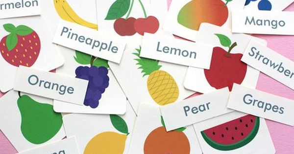 Free Printable Fruit Flash Cards And Matching Cards Mockeri Printables Free Kids Flashcards For Toddlers Flashcards For Kids