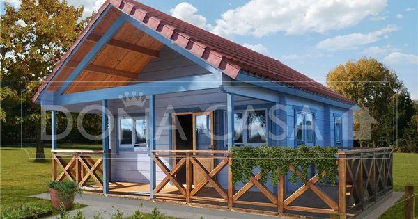 Antares b 50 m 600x600 con porche y altillo bungalow de - Casas con porches de madera ...