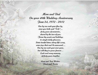 50th Wedding Anniversary Poems 40th Wedding Anniversary Poem