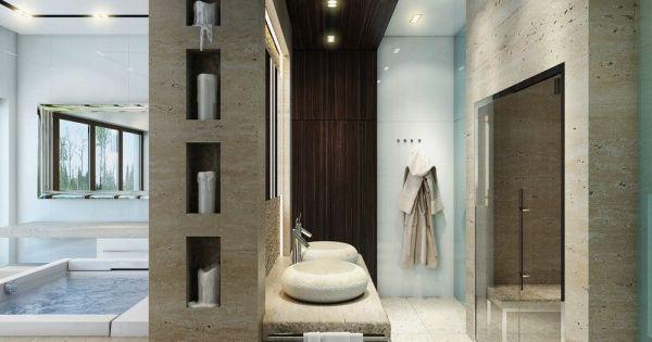 Veja 8 Ideias para Decorar Banheiros Grandes  Decoração, Design e Arquitetura ...