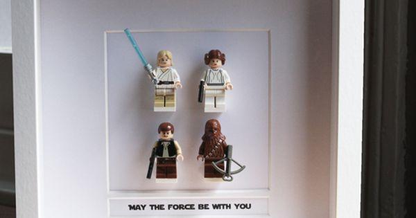 framed lego mini figures ... wall art