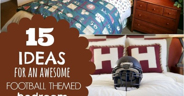 15 ideas for a football themed boys bedroom football for Football themed bedroom ideas