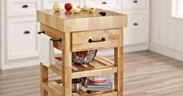 Buy Butcher Block Table Top: Details About Butcher Block Kitchen Cart Rolling Island