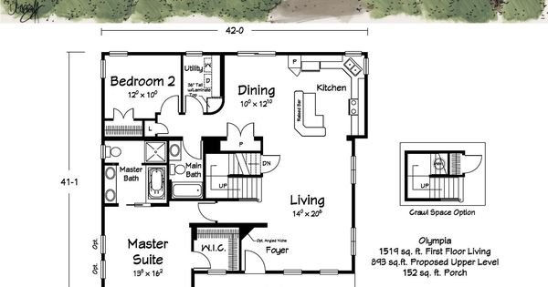 A great cabin floor plan awesome kitchen and loft cape for Cape cod floor plans with loft
