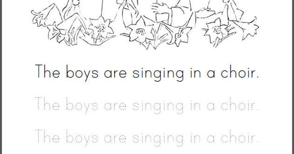 The boys are singing in a choir