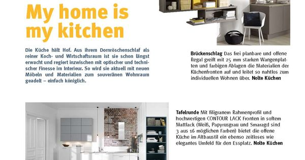 Superb My Home is my Kitchen K chenspezial mit Nolte K chen und Quooker Newsletter Pinterest Casa e Cucine