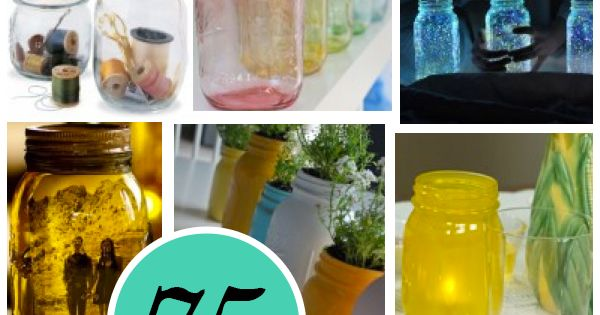 75 Mason Jar Craft; The original roundup ...some cool table decoration ideas!