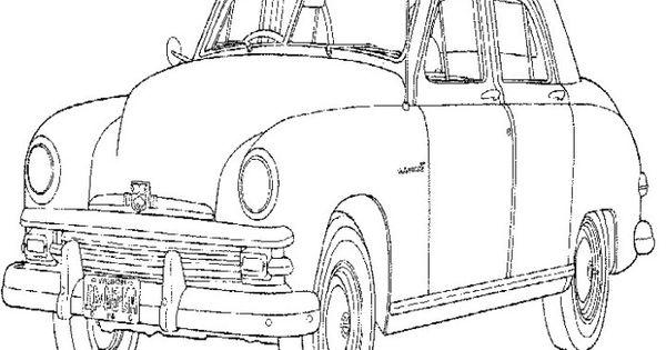 car corvette mini coloring page