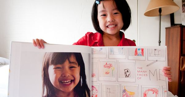 Great idea: photo book for kid's art.