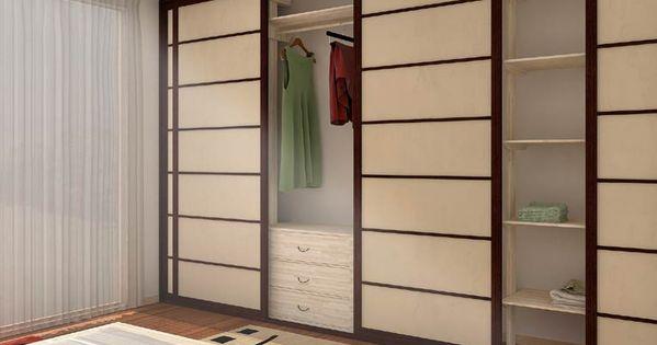 Para las puertas corredizas del closet o de la casa tipo for Puertas japonesas
