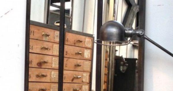 Miroir style atelier artiste verriere industrielle Miroir usine deco