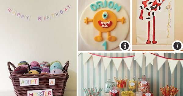 Cute monster themed birthday party!