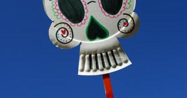 Paper Plate Sugar Skulls - awesome Halloween craft for kids AND adults.