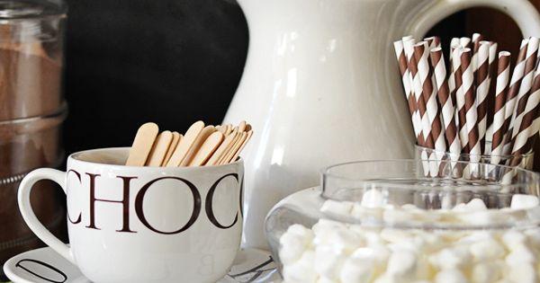 Dear Lillie: hot chocolate station