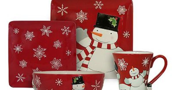 St Nicholas Square Tree Lot Collection Cute Snowman Mug Might Be A Trip To Kohl S In My F Christmas Dinnerware Christmas Dinnerware Sets Christmas Tableware