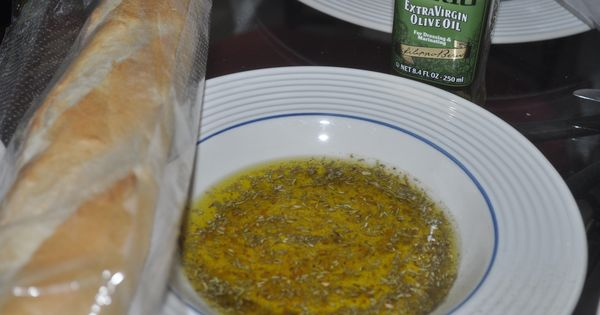 Bread Dipping Oil- mixed with Filippo Berio Extra Virgin Olive Oil ...