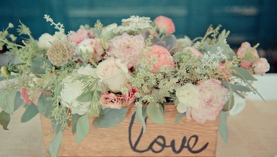 Perfect florals for a mint and pink wedding or party.