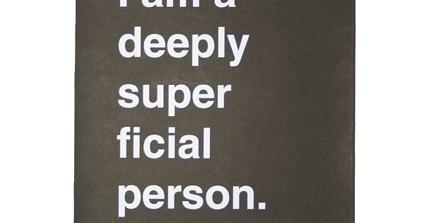 superficial people