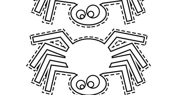 Arañas De Halloween Para Colorear: Plantilla-araña-Halloween-imprimir-colorear-recortar
